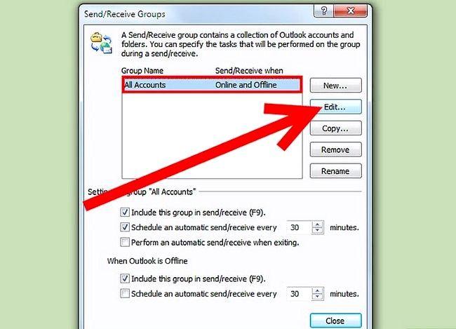 Beeld getiteld Download Mail vir `n Imap-rekening met Outlook Stap 4