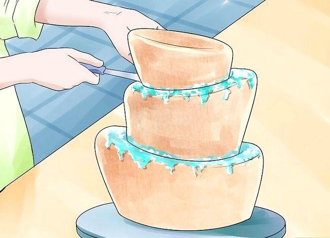 Prent getiteld Gebruik Topsy Turvy Cake Pans Stap 14