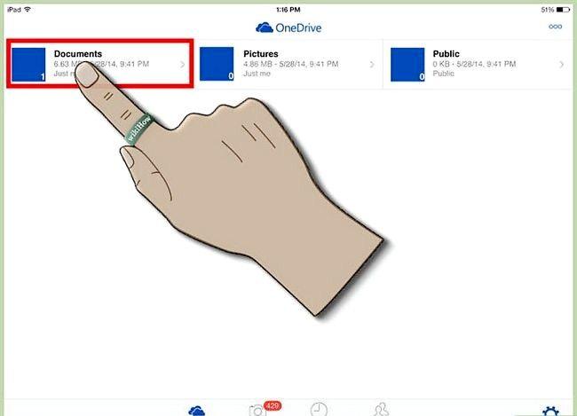 Prent titel Gebruik OneDrive op iOS Stap 19