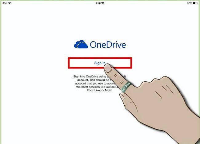 Prent titel Gebruik OneDrive op iOS Step 2