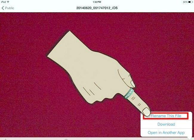 Prent getiteld Gebruik OneDrive op iOS Stap 21