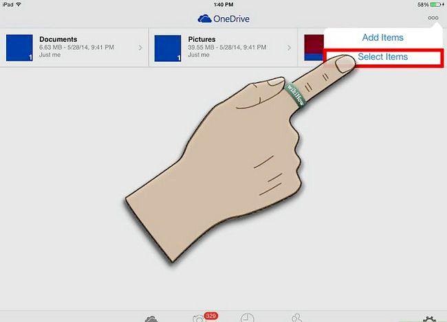 Prent getiteld Gebruik OneDrive op iOS Stap 23
