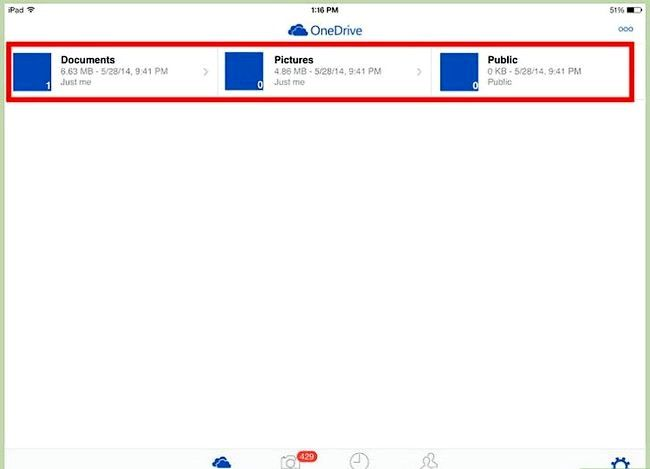 Prent getiteld Gebruik OneDrive op iOS Stap 3