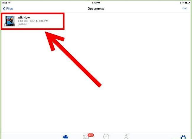 Prent getiteld Gebruik OneDrive op iOS Stap 5