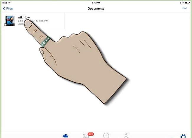 Prent getiteld Gebruik OneDrive op iOS Stap 6