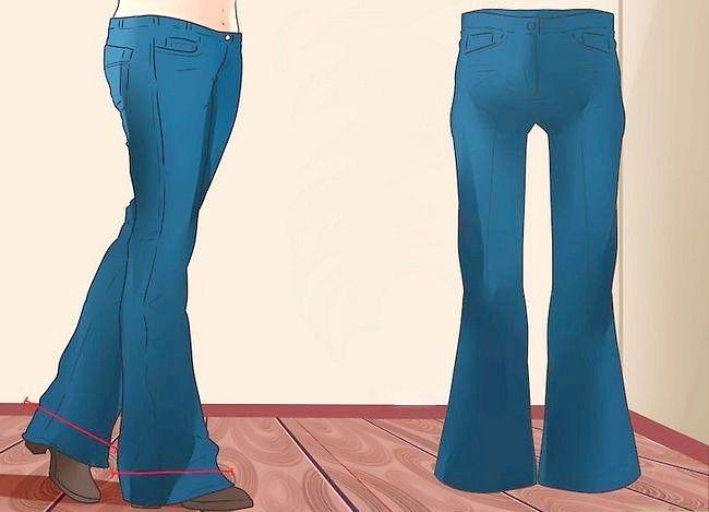 Prent getiteld Dra Bootcut Jeans Stap 3