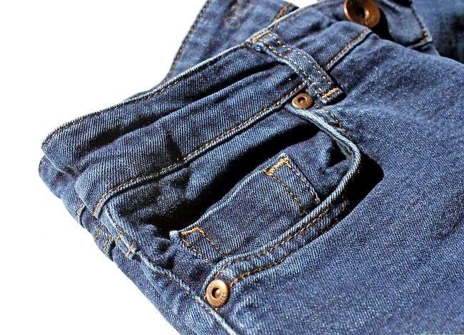Prent getiteld Dra jeans om te werk Stap 1