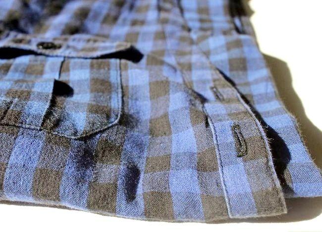 Prent getiteld Dra jeans tot werk Stap 4