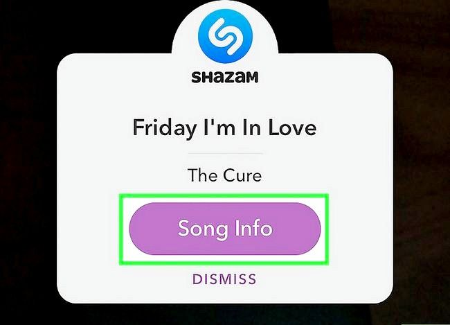 Prent getiteld Gebruik Shazam in Snapchat Stap 6