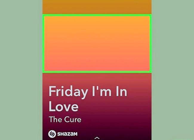 Prent getiteld Gebruik Shazam in Snapchat Stap 7