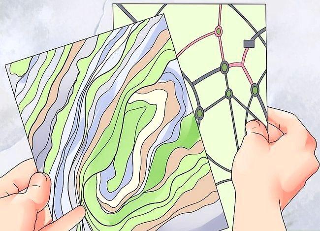 Prent getiteld Gebruik `n kaart Stap 1