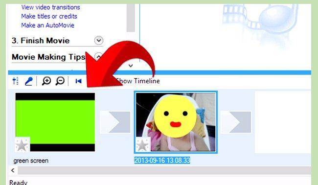 Prent getiteld Gebruik Greenscreen op Windows Movie Maker Stap 11