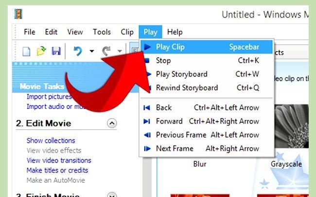 Prent getiteld Gebruik Greenscreen op Windows Movie Maker Stap 13