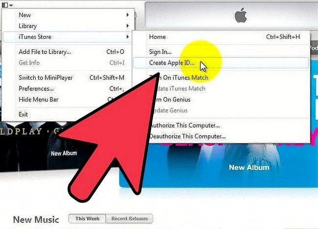 Prent getiteld Gebruik `n iTunes-geskenkkaart Stap 3