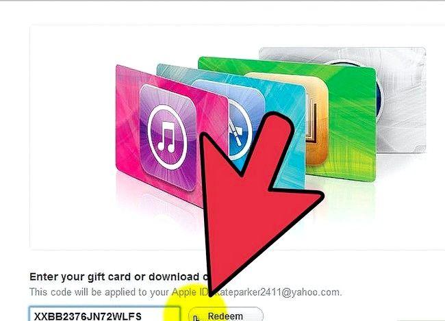 Prent getiteld Gebruik `n iTunes-geskenkkaart Stap 8