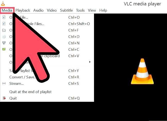 Prent getiteld Gebruik VLC Media Player om na Internet Radio Stap 2 te luister