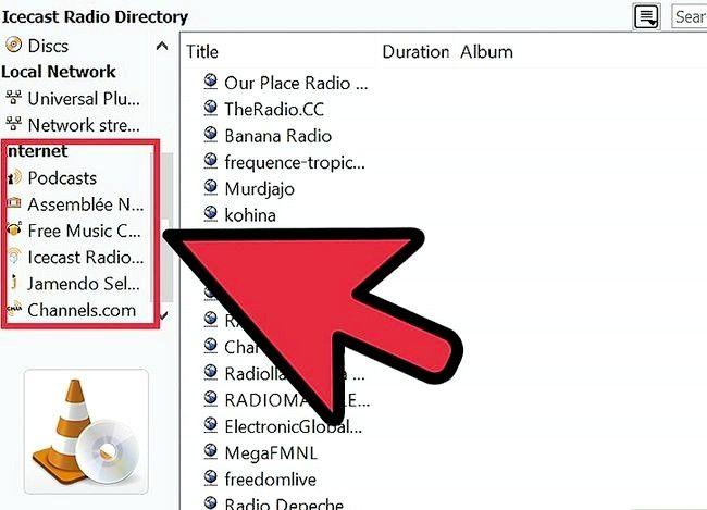 Prent getiteld Gebruik VLC Media Player om te luister na Internet Radio Stap 8
