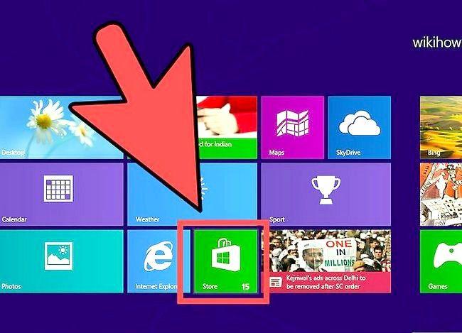 Prent getiteld Gebruik Windows 8.1 Stap 2