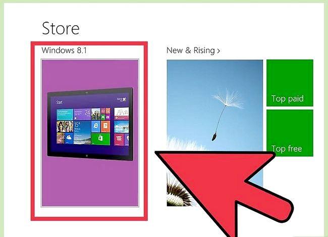 Prent getiteld Gebruik Windows 8.1 Stap 3