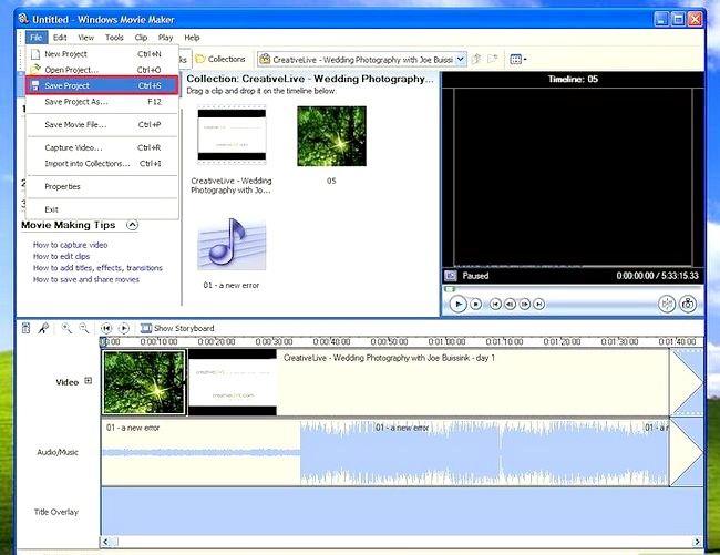 Prent getiteld Gebruik Windows Movie Maker om `n te skep` class=