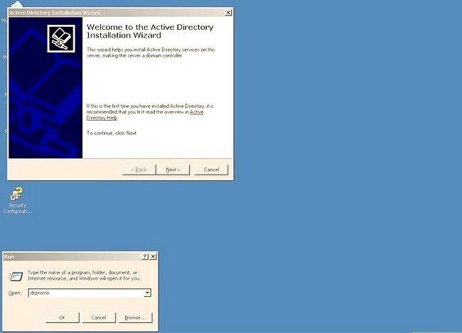 Prent getiteld Gebruik Windows Server 2003 Stap 2