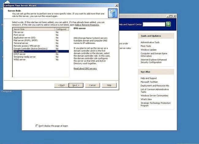 Prent getiteld Gebruik Windows Server 2003 Stap 5