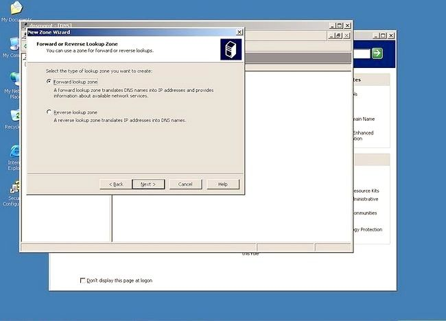 Prent getiteld Gebruik Windows Server 2003 Stap 8