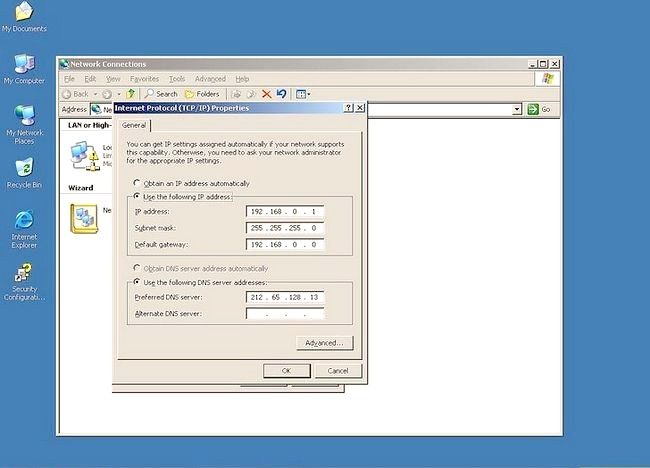 Prent getiteld Gebruik Windows Server 2003 Stap 10