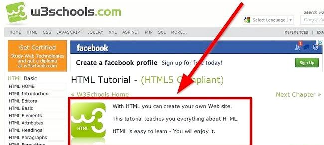 Prent getiteld Gebruik eenvoudige HTML-formaat Stap 1