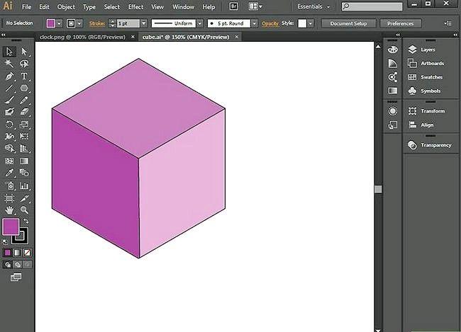Prent getiteld Gebruik die penseel gereedskap in Adobe Illustrator Stap 1