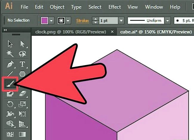 Prent getiteld Gebruik die Paintbrush Tool in Adobe Illustrator Step 3