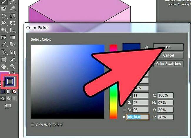 Prent getiteld Gebruik die penseelhulpmiddel in Adobe Illustrator Stap 5