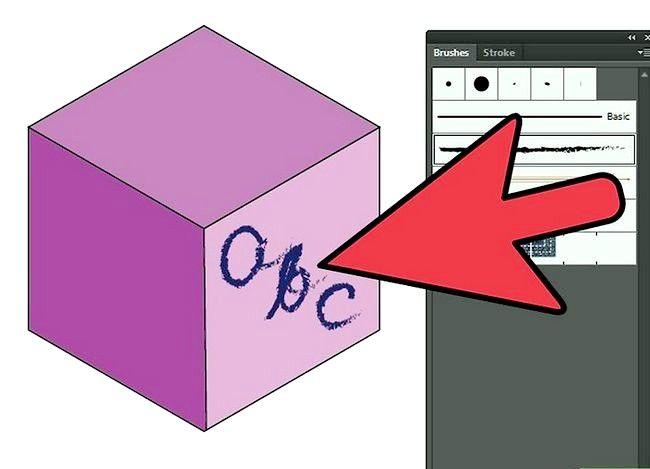 Prent getiteld Gebruik die penseel gereedskap in Adobe Illustrator Stap 6