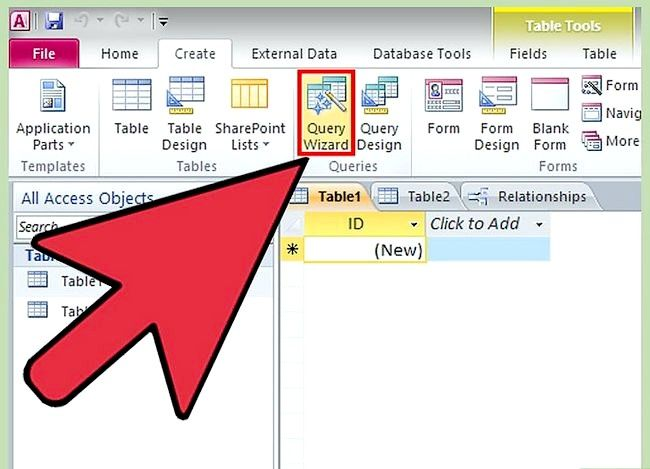 Prent getiteld Gebruik Microsoft Access Step 11