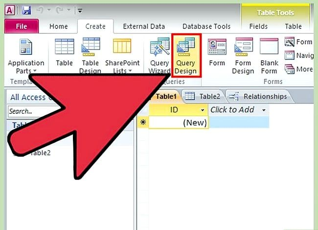 Prent getiteld Gebruik Microsoft Access Step 21