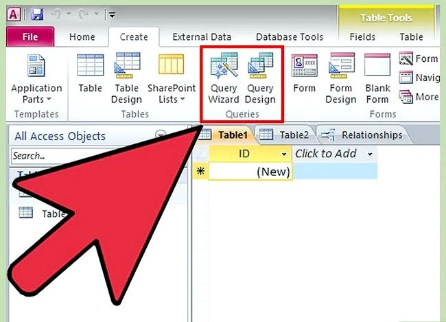 Prent getiteld Gebruik Microsoft Access Step 10