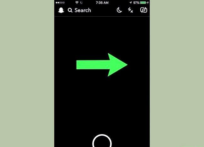 Prent getiteld Gebruik video notas op Snapchat Stap 2
