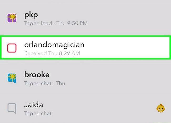 Prent getiteld Gebruik Video Notes op Snapchat Stap 3