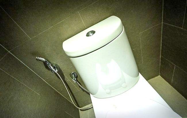 Prent getitel Veilig gebruik `n openbare badkamer Stap 5