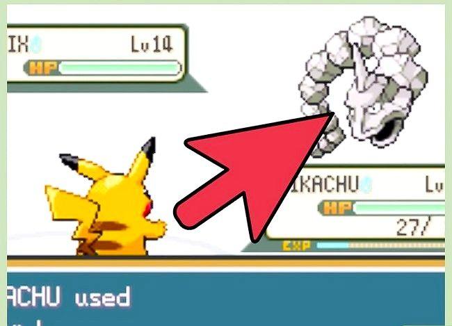 Prent getiteld Klop die eerste gimnasiumleier in Pokémon FireRed en LeafGreen Stap 19