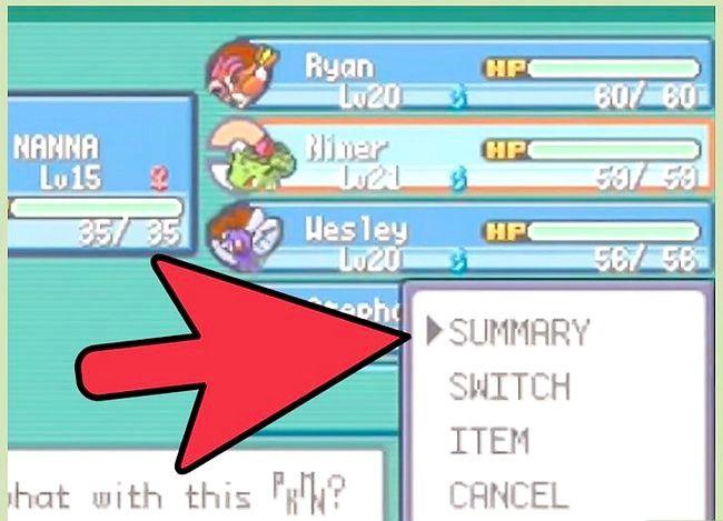 Prent getiteld Klop die eerste gimnasiumleier in Pokémon FireRed en LeafGreen Stap 2