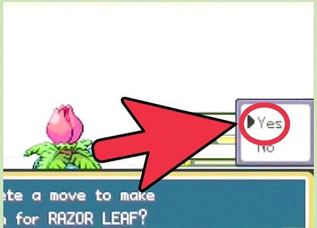Prent getiteld Klop die eerste gimnasiumleier in Pokémon FireRed en LeafGreen Stap 4