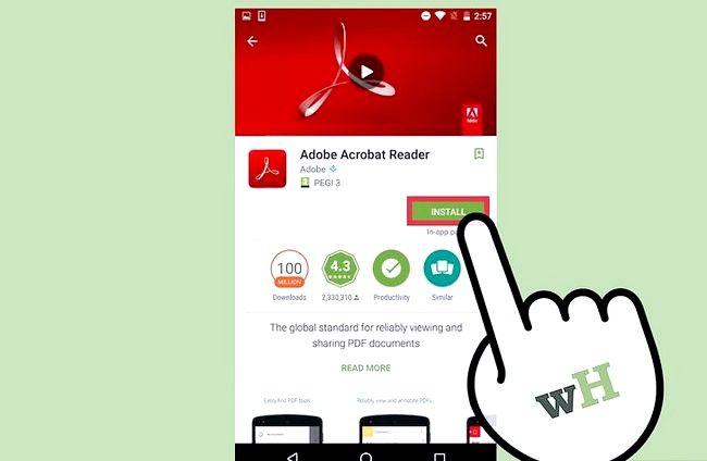 Prent getiteld Bekyk PDF-lêers op `n Android-foon Stap 5