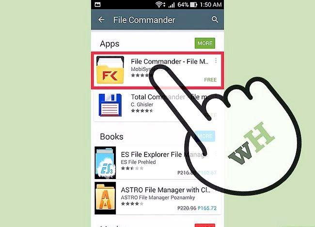 Prent getiteld Sien afgeleë lêers met Lêer Commander vir Android Stap 2