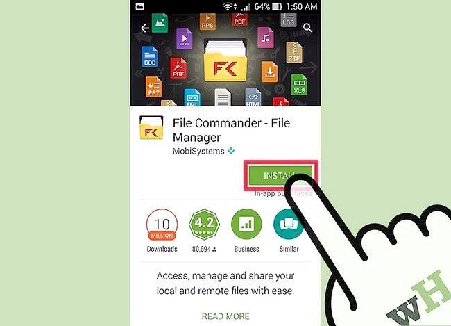 Prent getiteld Sien afgeleë lêers met Lêer Commander vir Android Stap 3