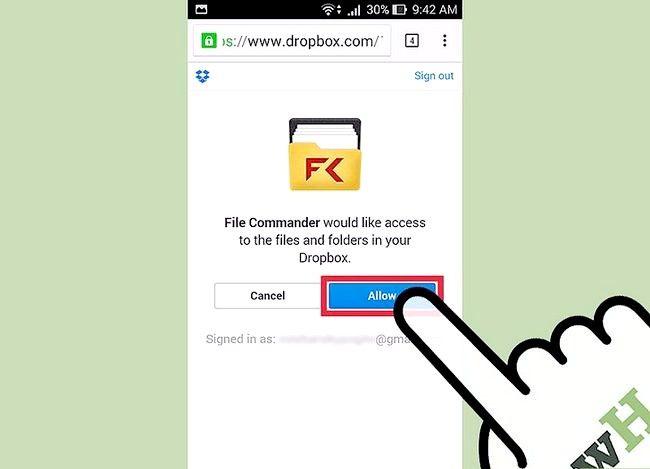 Prent getiteld View afgeleë lêers met behulp van File Commander vir Android Stap 9