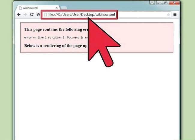 Prent getiteld Sien XML-lêers Stap 3