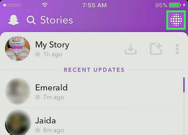 Prent getiteld Bekyk Snapchat Stories Stap 8