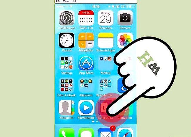 Prent getiteld Sien gespreksgeskiedenis op Lync op iOS Stap 1