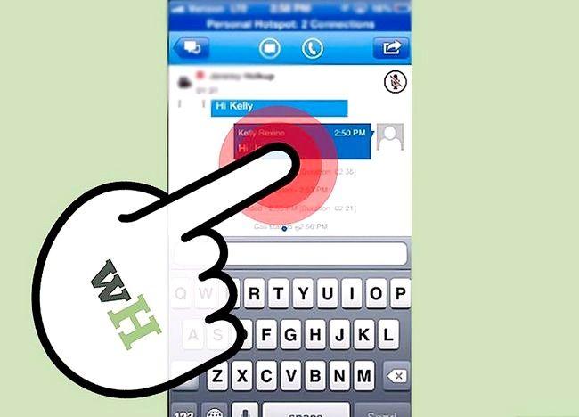 Prent getiteld Sien gespreksgeskiedenis op Lync op iOS Stap 4